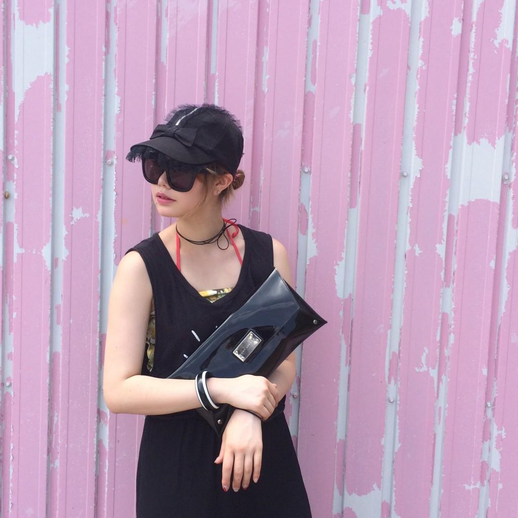 やっぱり黒が好き♡タンクトップの中にKAWI JAMELEのタイトスカートを合わせたよ♡#ootd #kawijamele