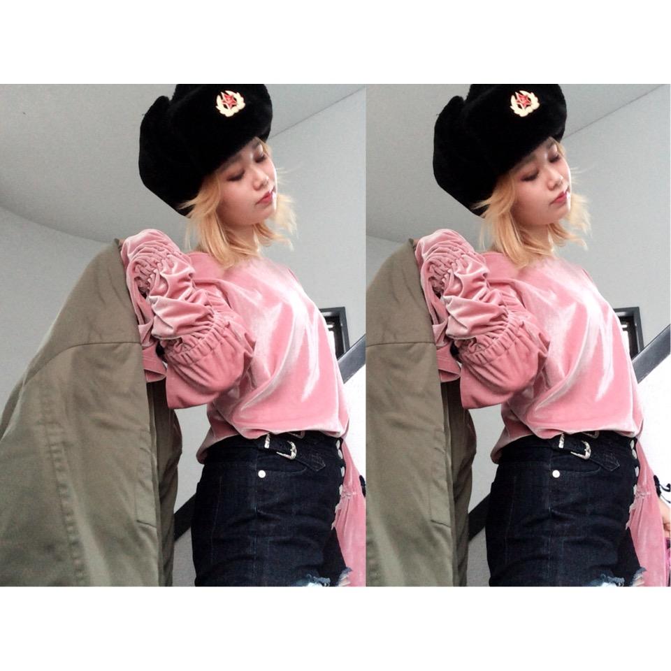 やっぱりピンクって可愛いよね♡#ootd