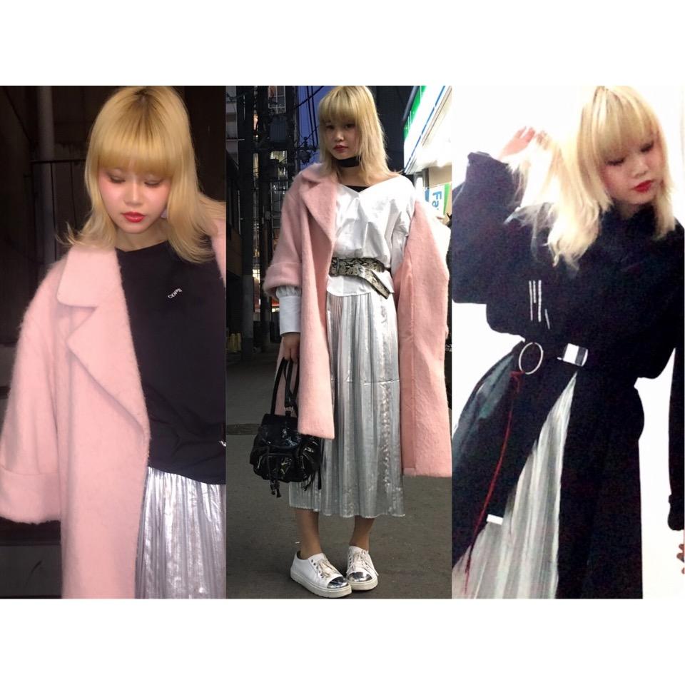 シルバーのスカートを着回し3days♡#fashion