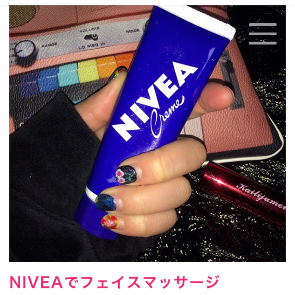 """NIVEA""青缶のHOW TO USE 5選♡#nivea #beauty"