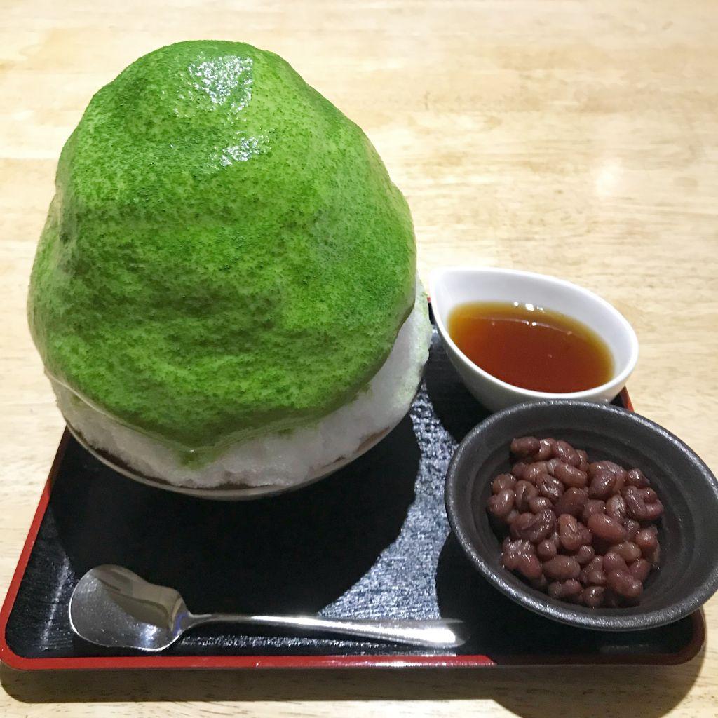 下北沢で頂く抹茶のかき氷♡#下北沢