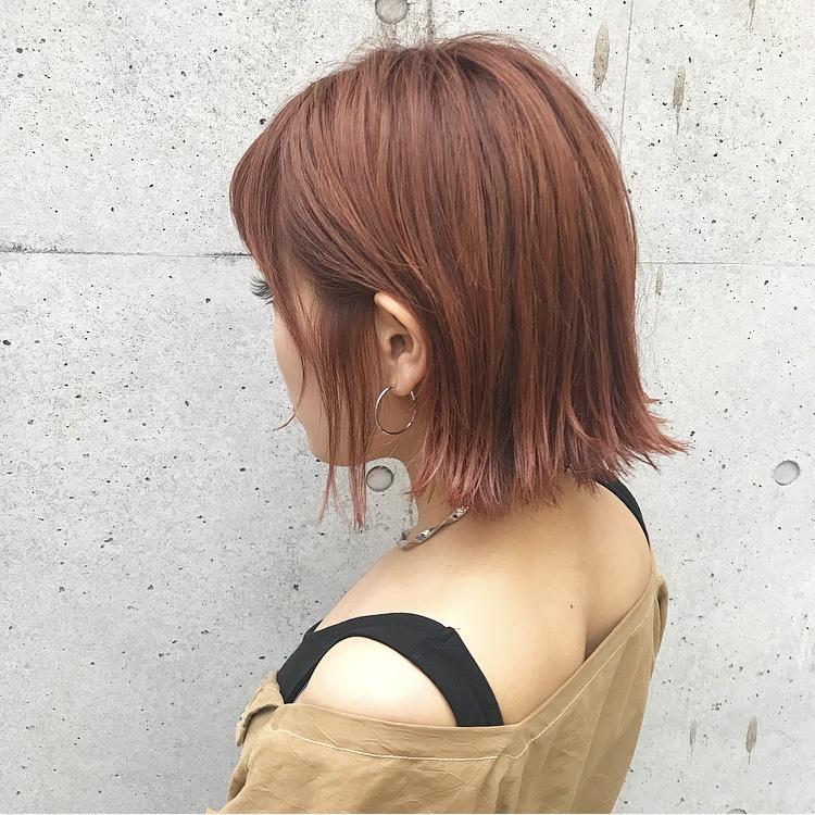 この夏オススメのオレンジヘア♡#shima