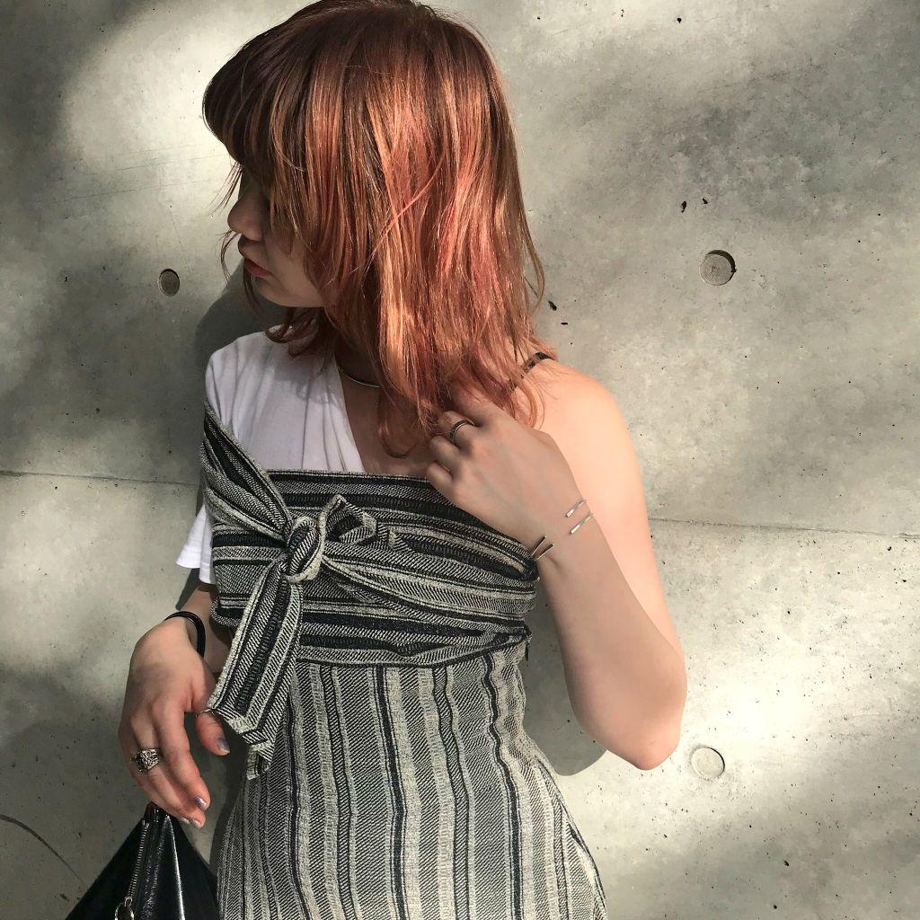 オレンジヘア復活しました♡#SHIMA