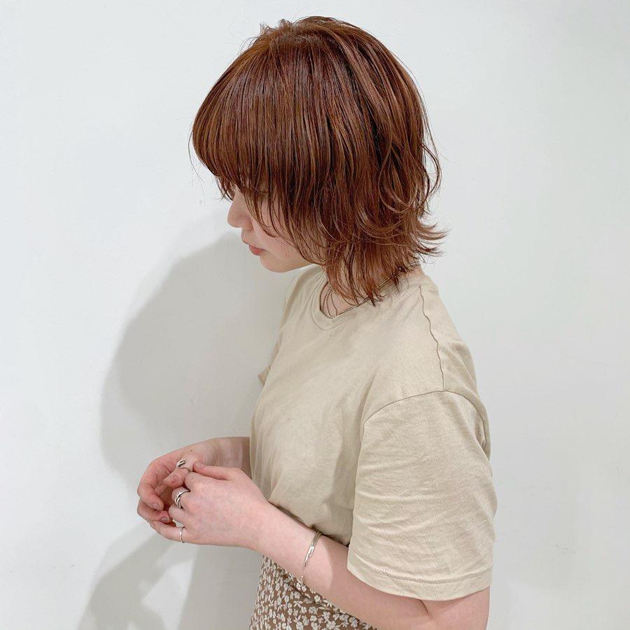 やっぱり可愛いオレンジヘア♡#SHIMA