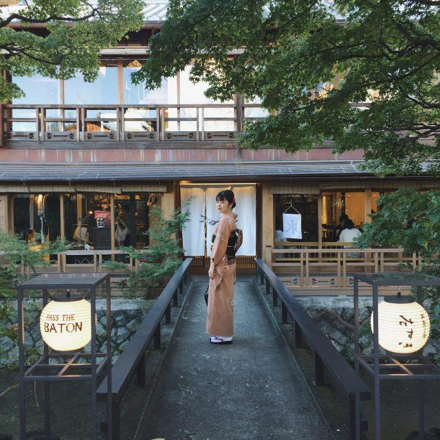 #京都 で定番の #着物レンタル ! アンティークっぽくてレトロな着物で PASS THE BATON KYOTO GION へ! #てくてく京都