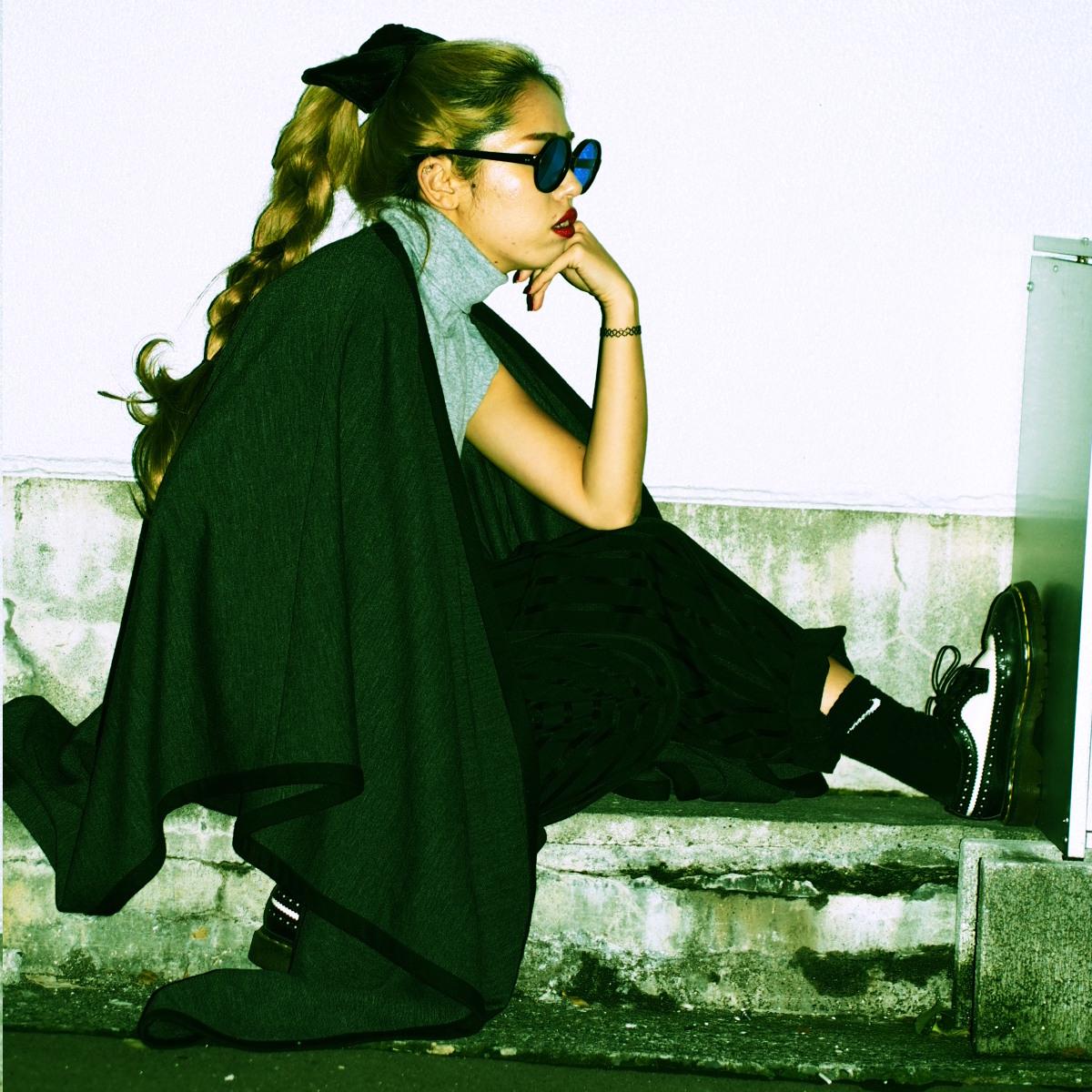 #OOTD企画 【黒とグレーのやさぐれスラックススタイル】