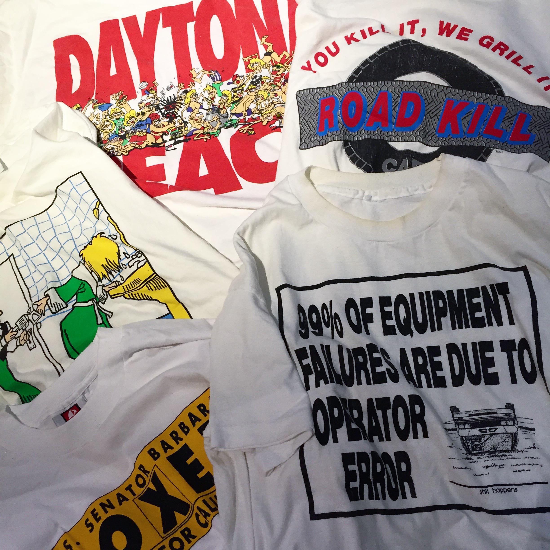 #OOTD:シュールな柄のプリントTシャツでスタイリング。あなたはどの柄を選ぶ?