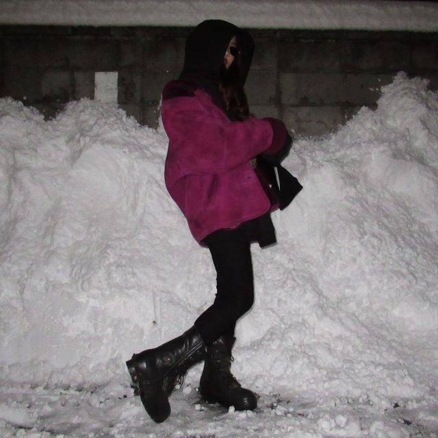 #ootd:−20℃の気温に対応したミッキーブーツとムートンコート。