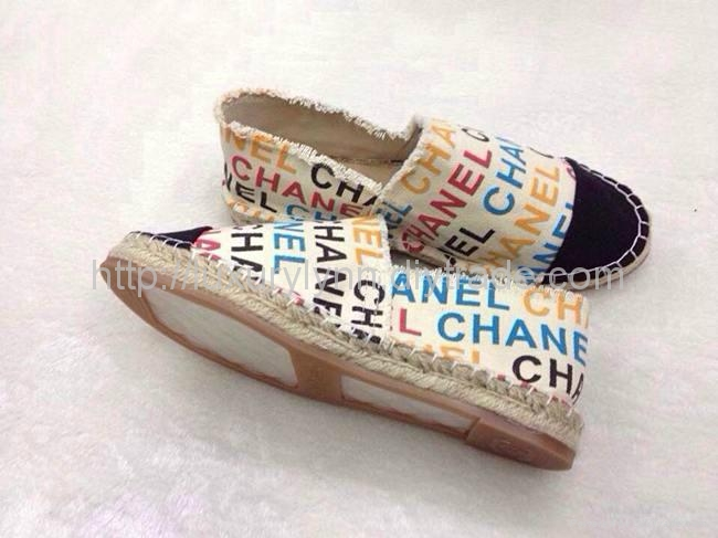 Women_casual_shoes_Chanel_canvas_flat_shoes_new_in_2014