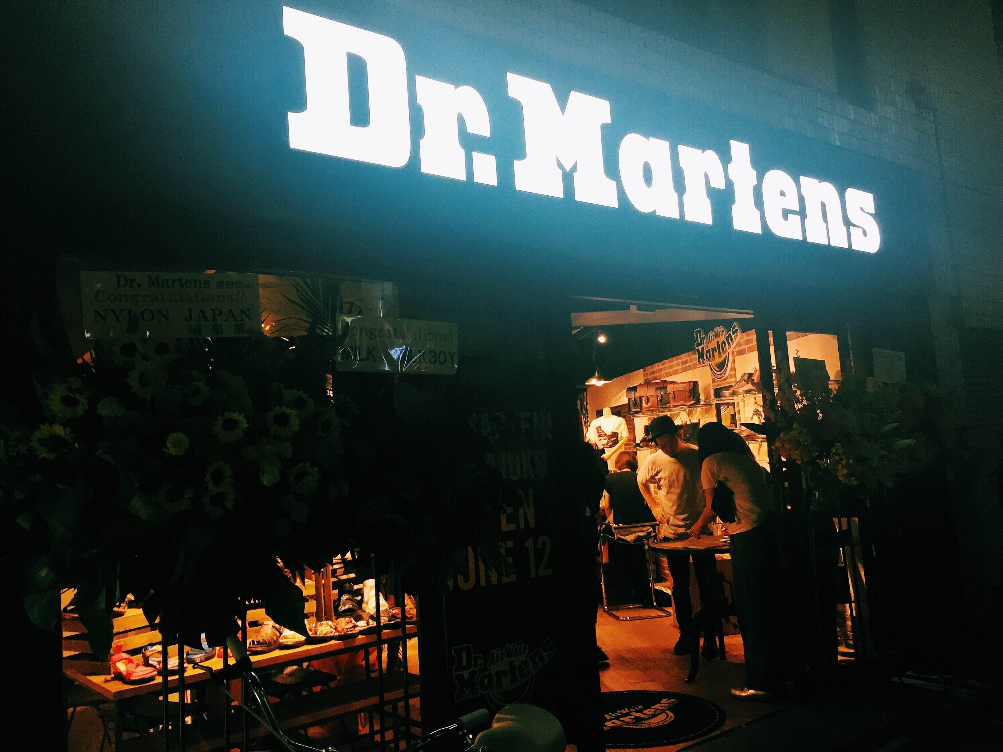 Dr.Martensの路面店が原宿にオープン!!オープニングパーティーと新店舗の様子をレポート。