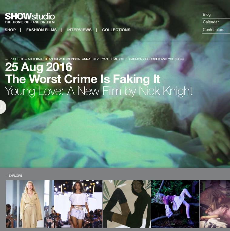 Nick Knightが主宰する前衛的なファッションメディアサイトSHOW studio に再注目!韓国のDERIM MUSEUMでエキシビジョンも開催 #ニックナイト