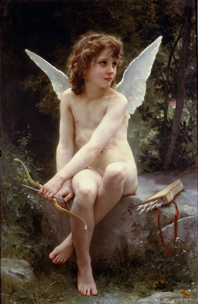 Cupido en el mirador-William-Adolphe-Bouguereau