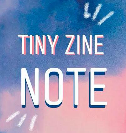 TINYZINEよりZINE作りに最適なダウンロード式ノートを販売! #tinyzine_note