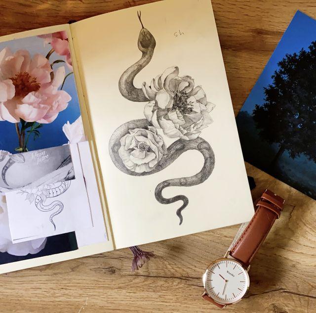タトゥーアーティストのノートの中身♪