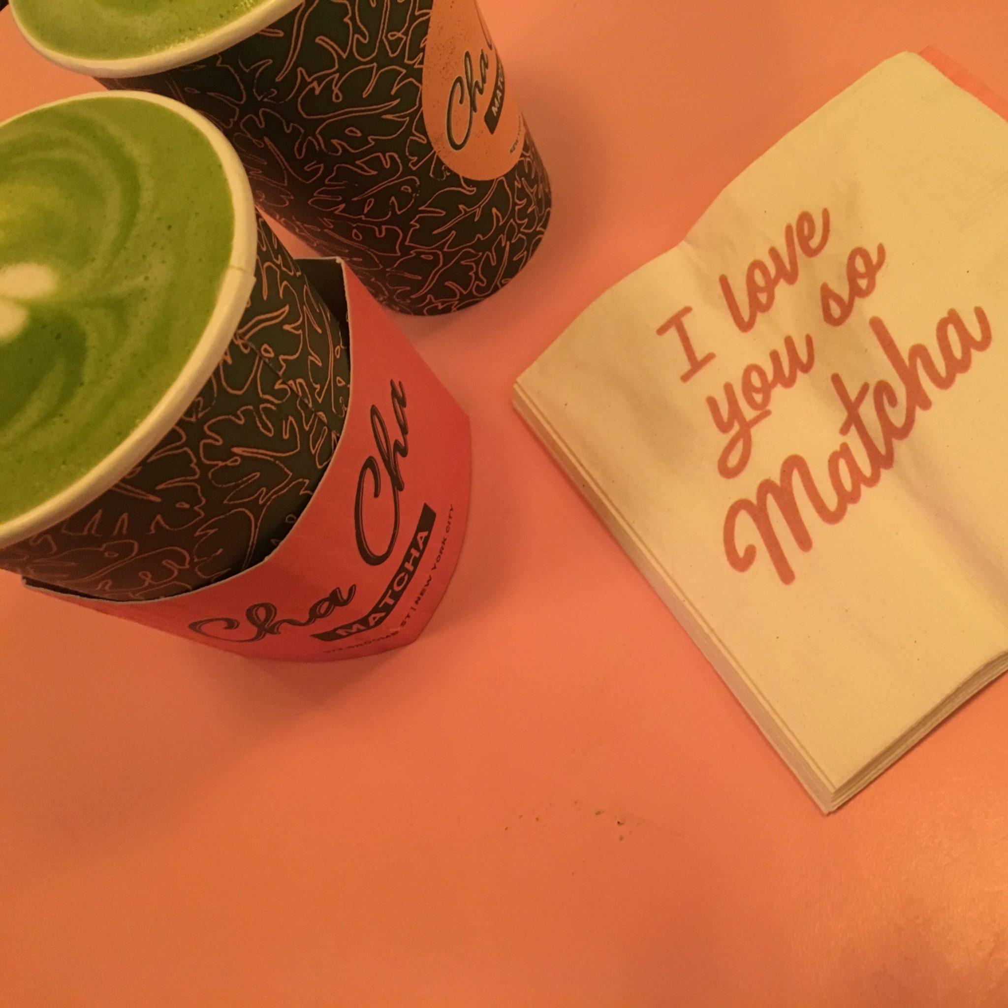 #インスタ映え #ピンク 抹茶カフェ in NY 💚💗
