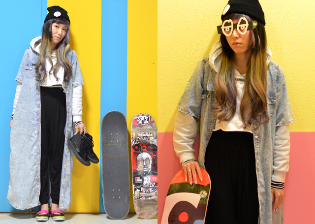 sk8前のリラックスパンツスタイル 第4弾#OOTD QUEEN #KROOKED