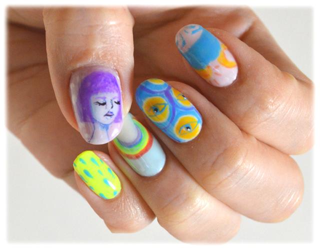 どこか懐かしいデザインと春らしい配色 #New Spring Nail