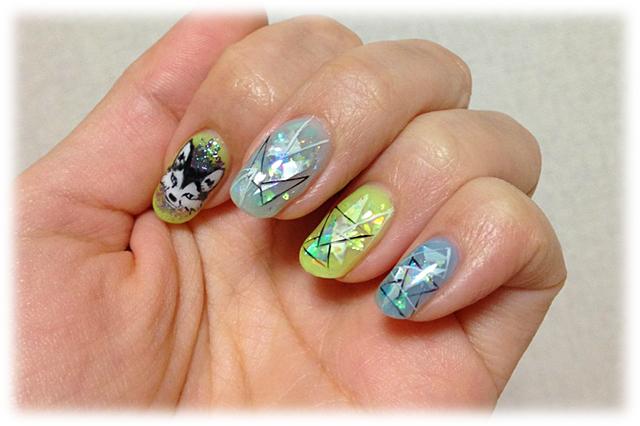 春のキラキラしたホログラムネイル #New Nail