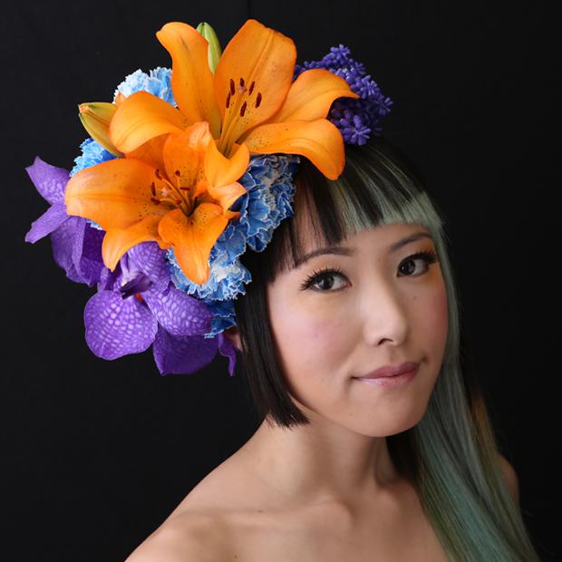 鮮やかなオレンジの百合の花 #lily flower