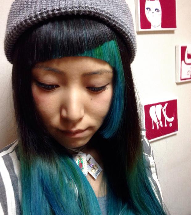 前髪をデザインする #Color bangs