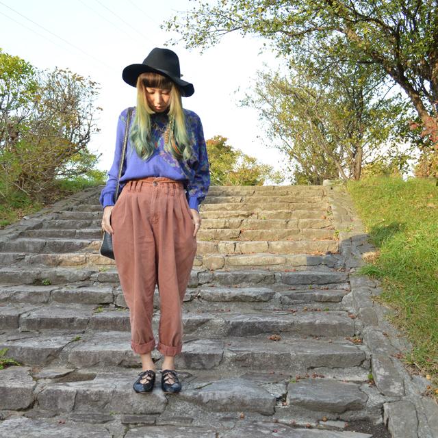毎年秋になると着る自分らしいVintageスタイル #OOTD #Vintage