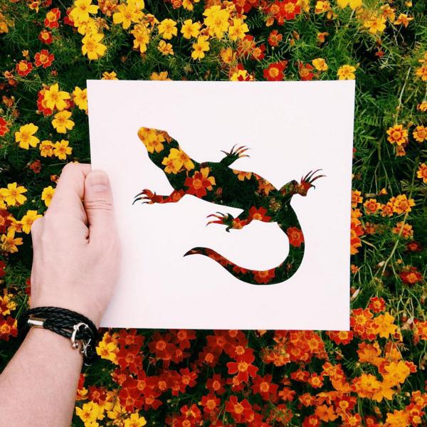 切り絵と自然が融合した美しいArt #Papercutout
