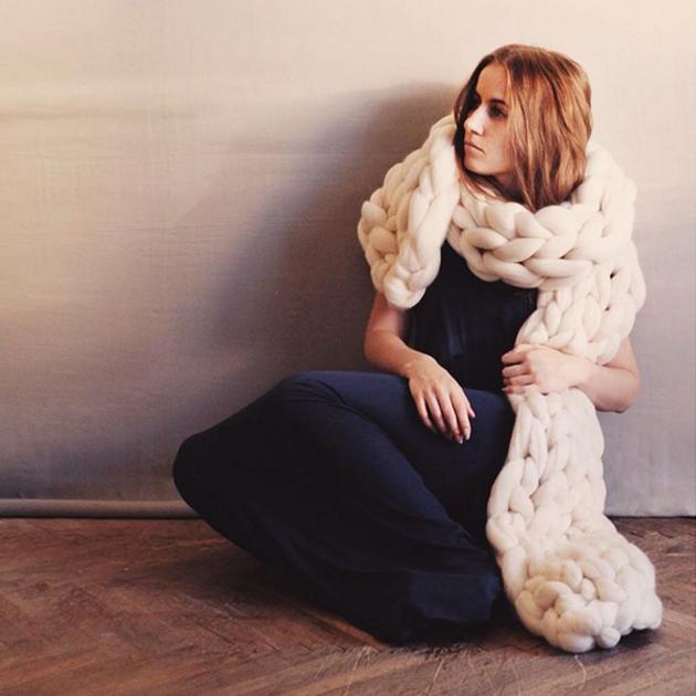 ボリュームたっぷりな極太ニットが気になる #ohhio #knit