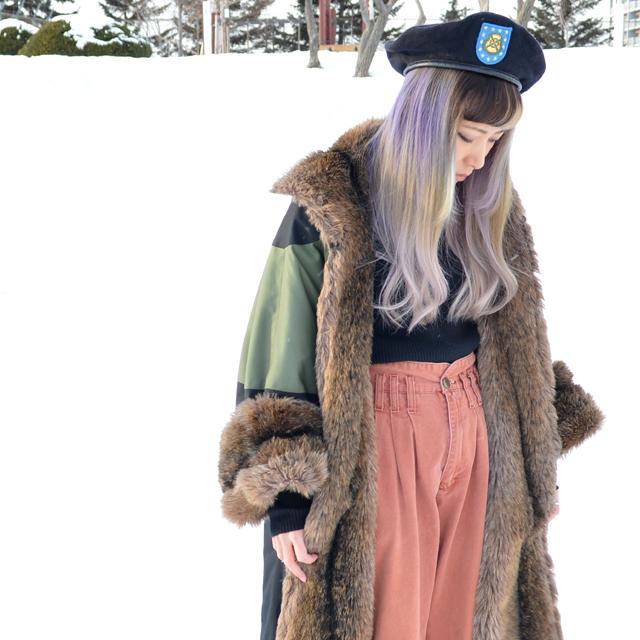 地域の気候にあったファッションを。真冬の北国スタイル #OODO #fakefur