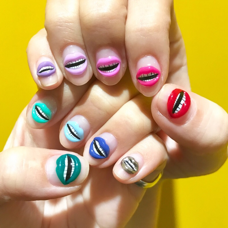 Lip Lip Lip Nails #nailart