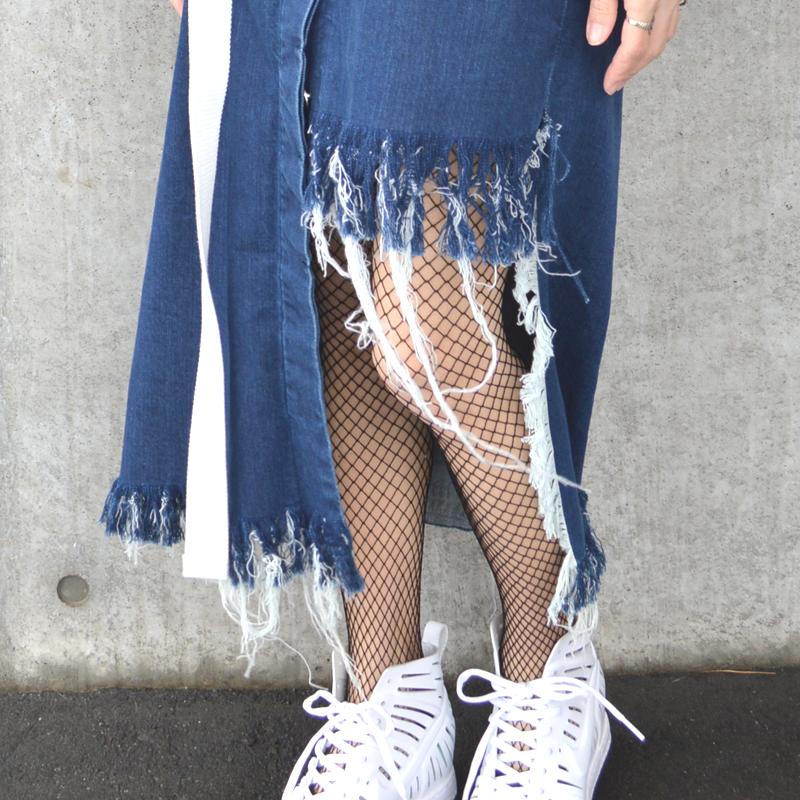 自分でオリジナルのデニムを作ろう。フリンジデニムスカート #DIY