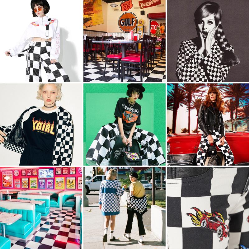 オールドアメリカンなチェッカーフラッグ柄がかわいい #checkered