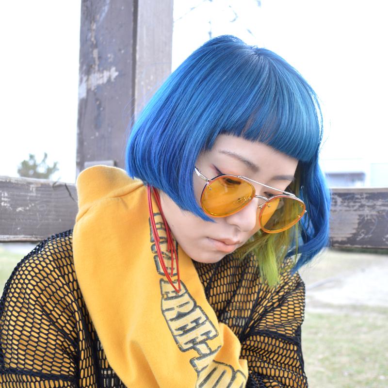 普通のボブに飽きてしまったら。アシンメトリーヘア #bluehair #asymmetryhair