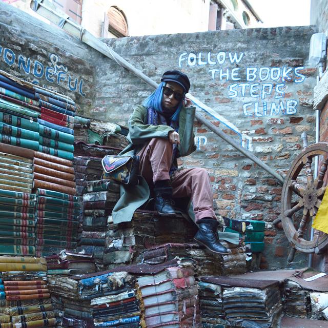 ヴェネツィアで最も古くからある古本屋Libreria Acqua Alta #Venezia #Venice #Italy