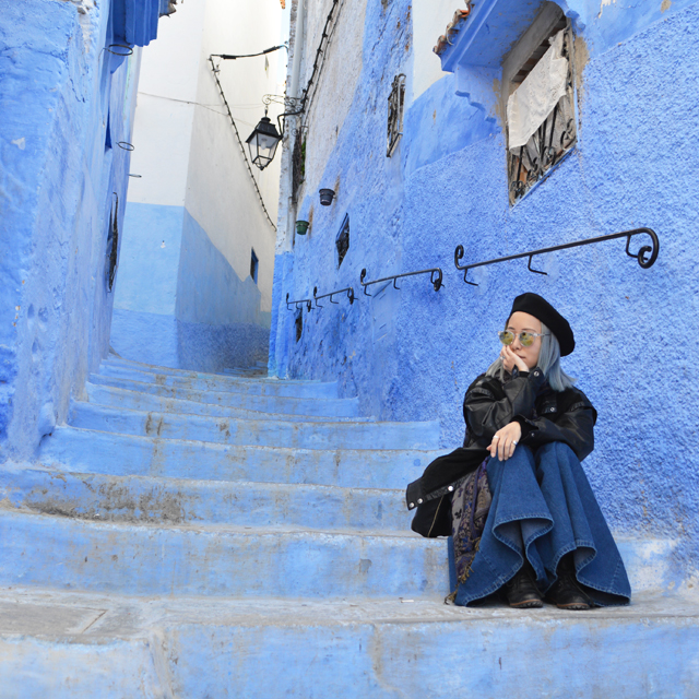 見渡す限りのブルー。青い絶景の街シャフシャウエン。モロッコ放浪記vol.1 #アフリカ #モロッコ #放浪 #chefchaouen