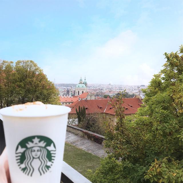 世界一美しいと言われるスタバでプラハの絶景を #チェコ #prague #starbucks