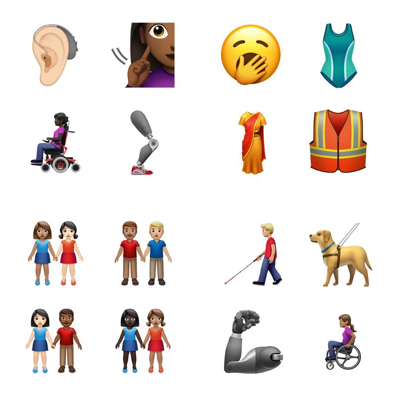 新しい絵文字が今秋から追加!カップルの肌の色・ジェンダーが選択可能に。車椅子や補聴器も登場。#ダイバーシティ