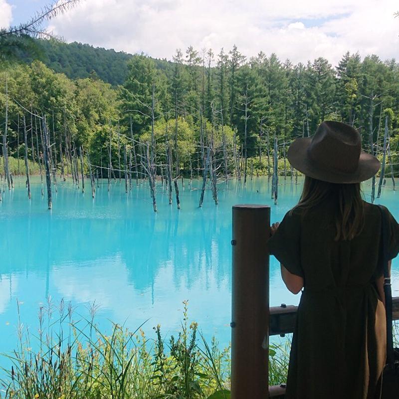 神秘的なブルー。青い池は本当に青かった。 #美瑛 #北海道