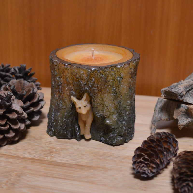 優しい木の香りに癒される切り株キャンドル #富良野 #北海道