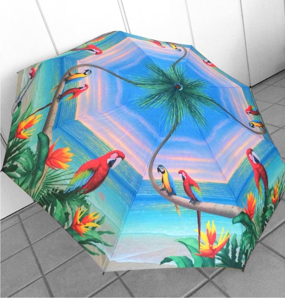ユウウツな雨の日はキュートな傘をオシャレの味方につけて!気分は南国♥︎! #umbrella