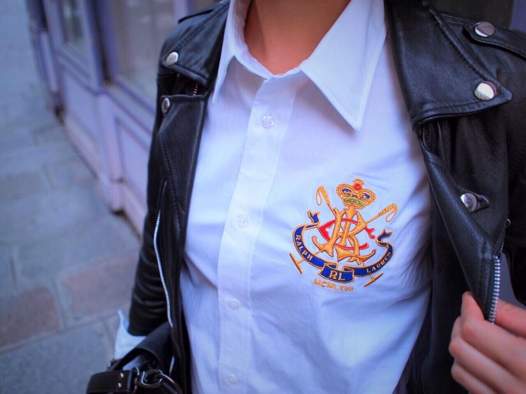 #OOTD 着回し企画PART.3 白Yシャツ×ライダースでジェンダーフリーな秋冬向けスタイリングを。 @RalphLauren