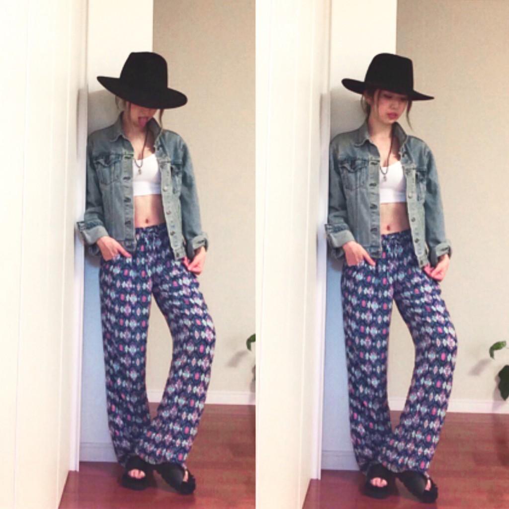 PAJAMAパンツを #BOHO スタイルで #OOTD に取り入れてみて♡ #fashion #KimchiBlue