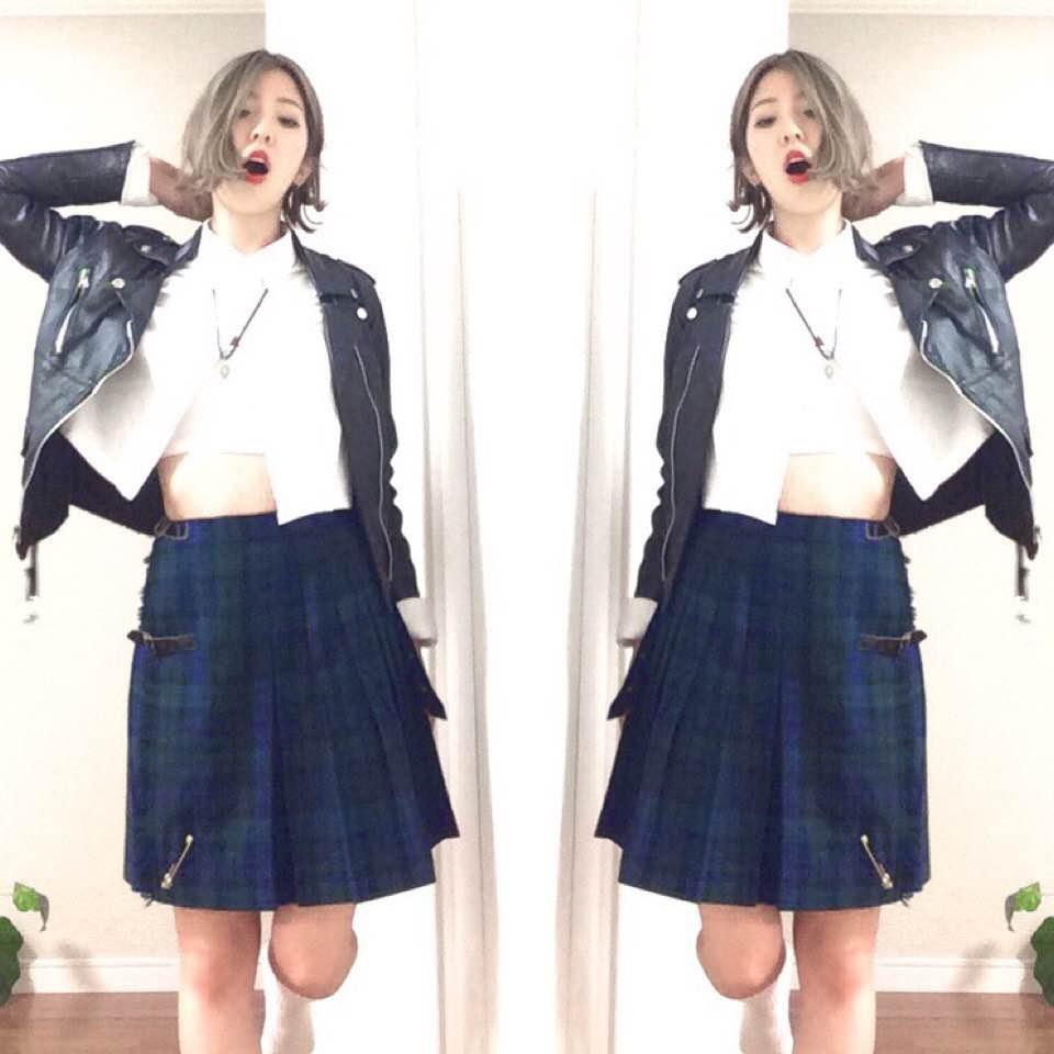 制服のスカートを使って、 #Schoolgirl × #PUNK なコーディネート提案♡ #OOTD