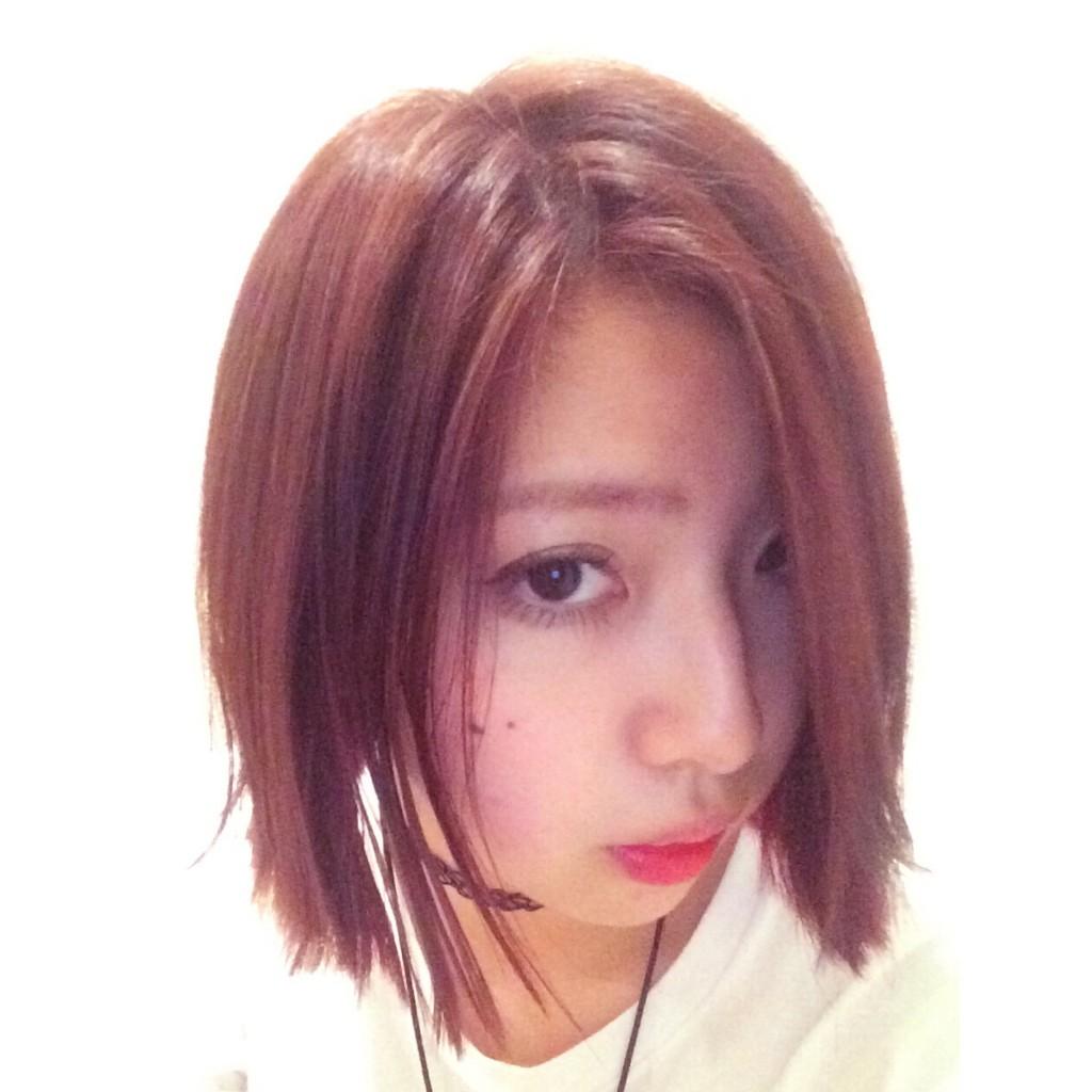 1年ぶりに赤髪に♡同系色ツートーンのススメ! #haircolor #manicpanic