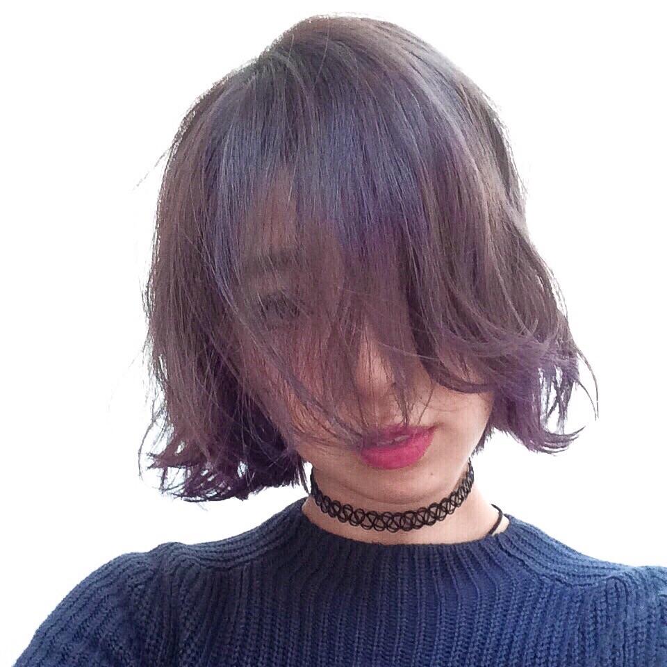お風呂ついでにセルフカラーで久々に髪を #PURPLE に♡ー手順のおさらいー #manicpanic