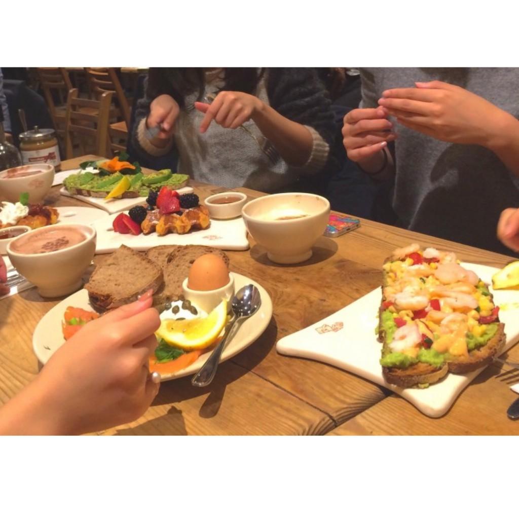 """#NY : 朝食に断然オススメなオーガニックカフェ """"Le Pain Quotidien"""" #TOKYOにもあるよ"""