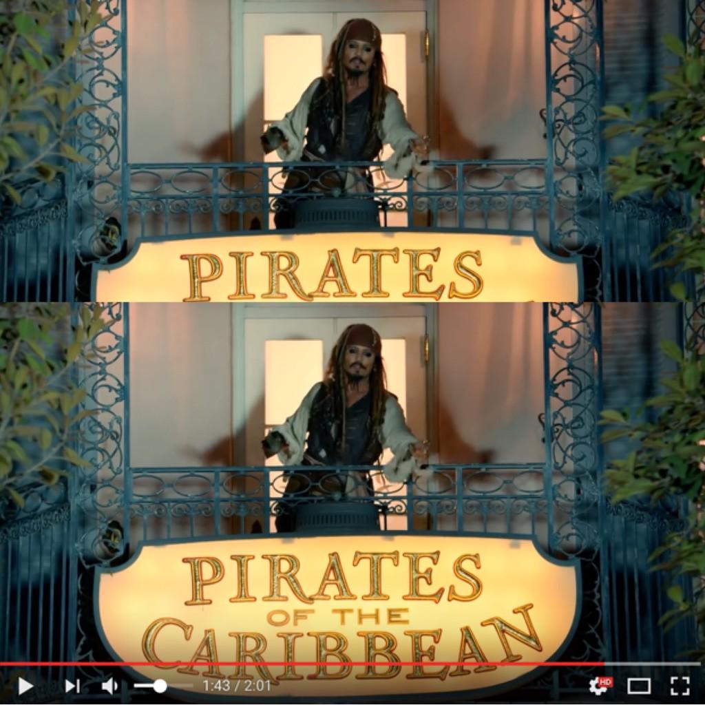 #DISNEY のアトラクション #カリブの海賊 に #JohnnyDepp 本人が紛れ込むドッキリに興奮と鳥肌が止まりません!! #MOVIE