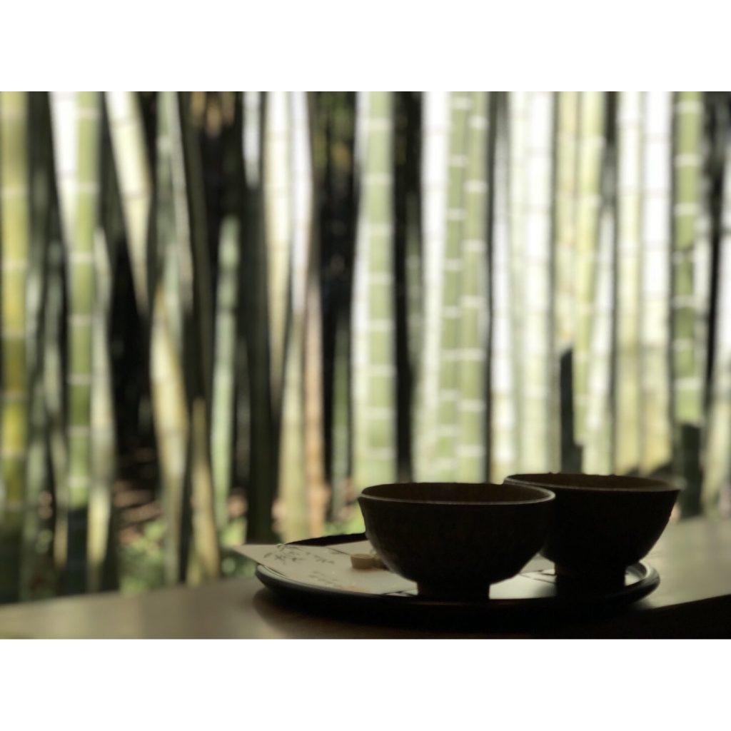 ひんやりした澄んだ空気の中 #竹林 を眺めて #お抹茶 をいただくという究極のCHILLはいかが。 #鎌倉 #報国寺 #HOUKOKUJI