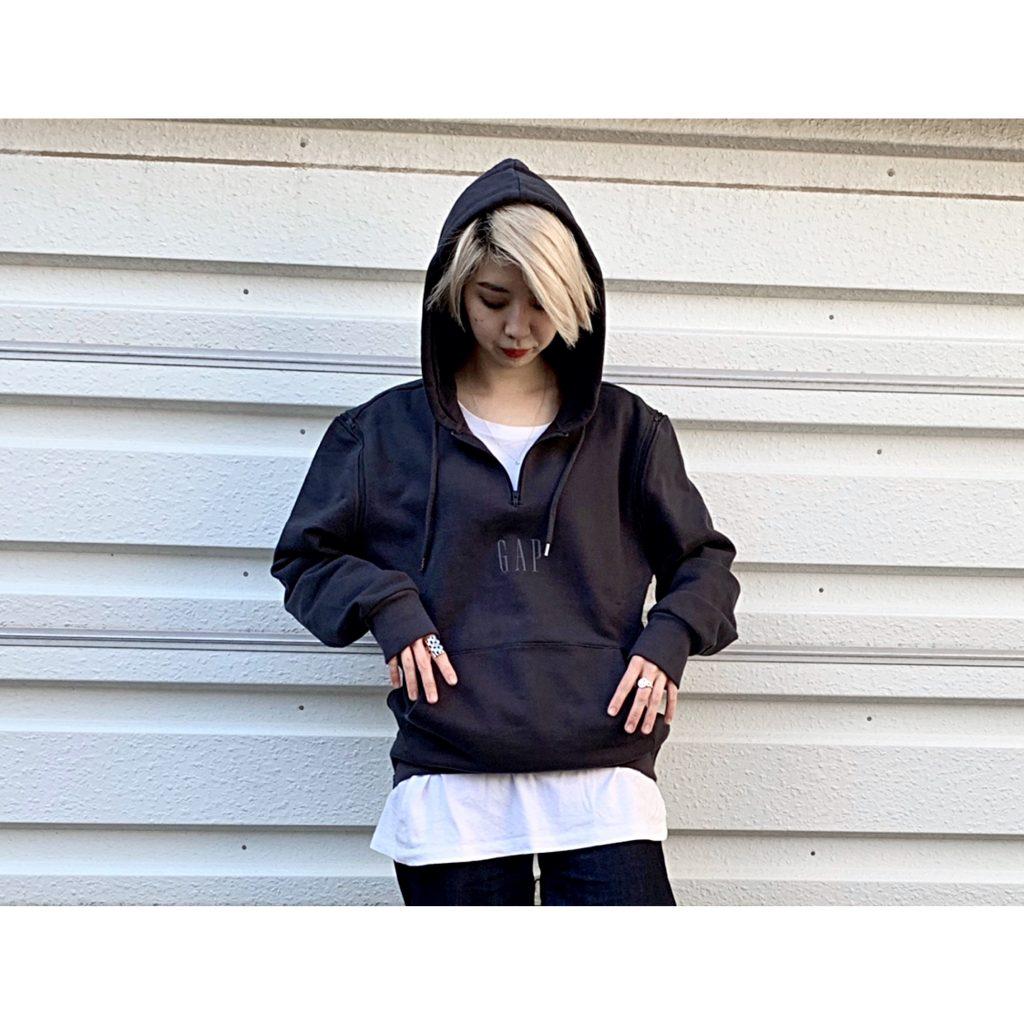 #GAP × #STAMPD のコラボがとにかくツボ♡ #hoodie を子供っぽくならないように着る時のポイントは? #OOTD4NYLONJP