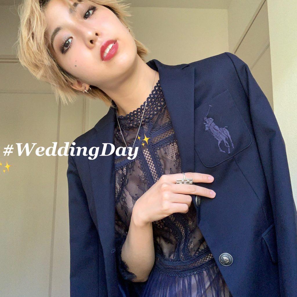 結婚式のお呼ばれコーデ♡ 学生時代の制服のあるアイテムが活躍。 #OOTD4NYLONJP