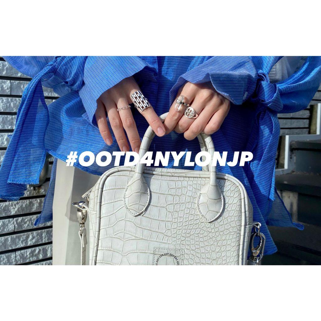 クリームカラーのワントーンコーデ × カラーシャツで楽しむ秋冬コーデ♡ #OOTD4NYLONJP